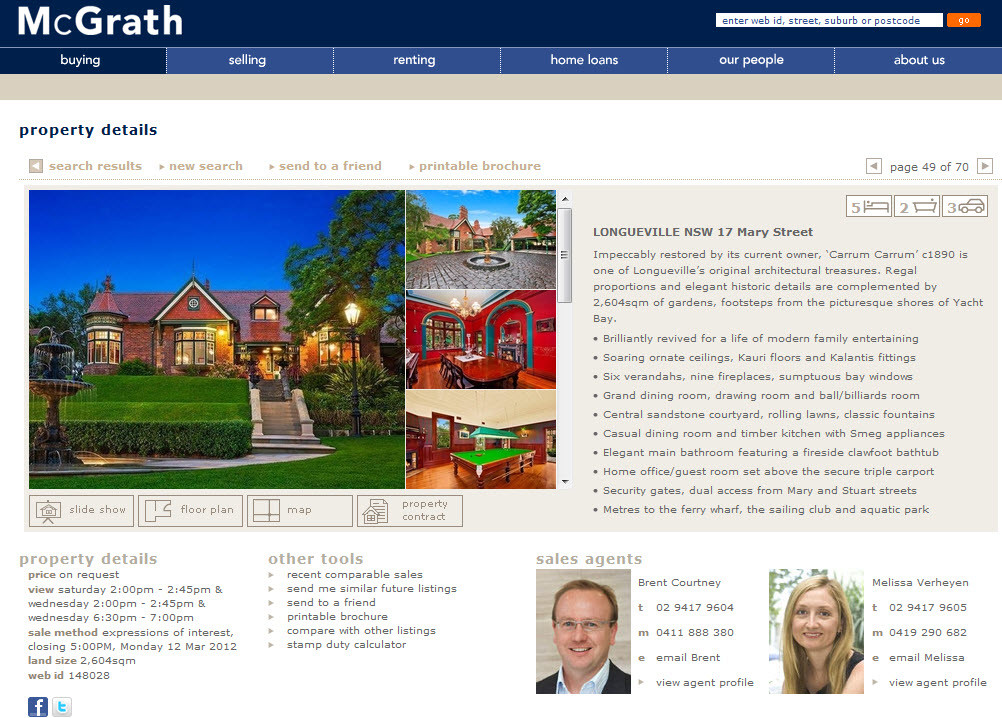 McGrath Real Estate online property ad