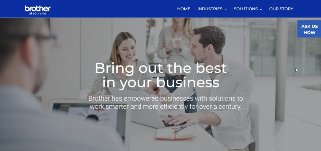 Brother-Corporate-Solutions-homepage