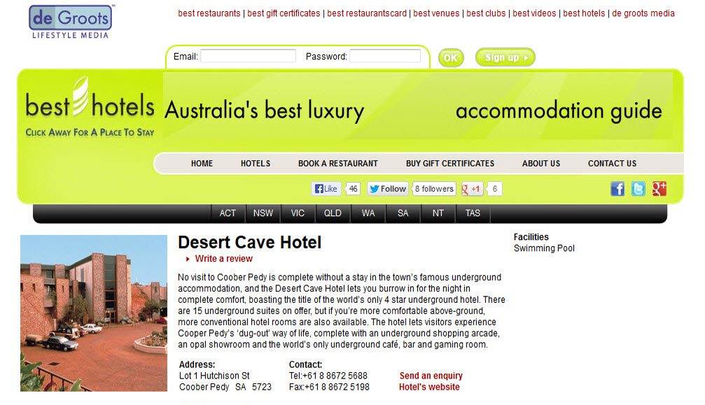 Best Hotels website