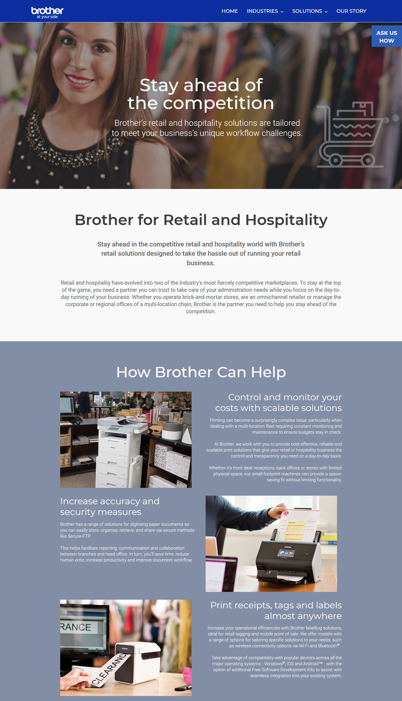 Brother Printers Corporate Microsite