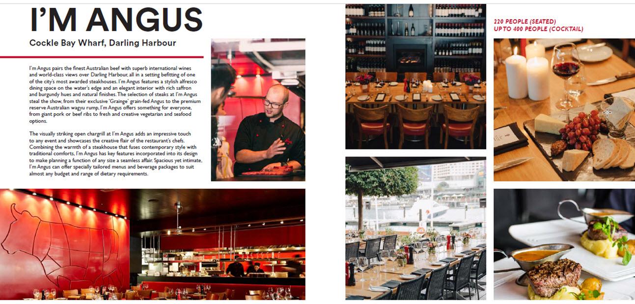 Nick's Restaurants Corporate Event Brochure